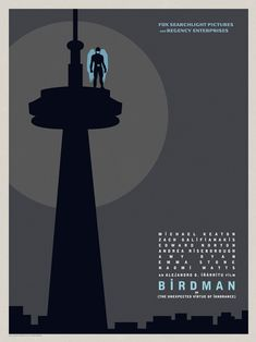 The Seattle Birdman poster. Michael Keaton stars as the title character in the movie that will rock you. Best Movie Posters, Cool Posters, Film Posters, Zach Galifianakis, Edward Norton, Michael Keaton, Naomi Watts, Emma Stone, Birdman