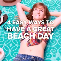 4 Easy Ways To Have A Great Beach Day #beach #DIY