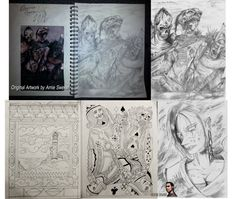 Just some recent sketches I've done in the previous year, showing everyone what I do on my spare time. Included in this is a recreation sketch I did of an old art piece for Magic the Gathering, Coffin Puppets by Arnie Swekel