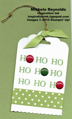 Oh, What Fun Ho Ho Ho Tag by Michelerey - Cards and Paper Crafts at Splitcoaststampers