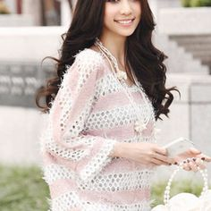 Holey Sweater in Pink