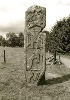Celtic: The Maiden Stone (also known as the Drumdurno Stone, after a nearby farm) is a Pictish standing stone near Inverurie, Aberdeenshire, Scotland, most likely dating to the 9th century CE.