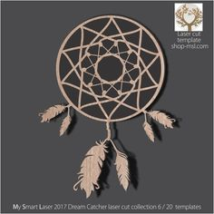 Detailed dream catcher template for laser cutting. Dream Catcher Vector, Hoop Dreams, Dreams And Nightmares, Mandala Design, Vector Pattern, Laser Cutting, Mother Day Gifts, Free Design, Arts And Crafts