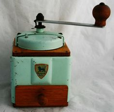 Vintage PEUGEOT FRERES Coffee Grinder Mill by Brocantestore2013