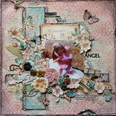 Layout: ScrapThat! September Kit~~Memories of An Angel--A Ladies Diary