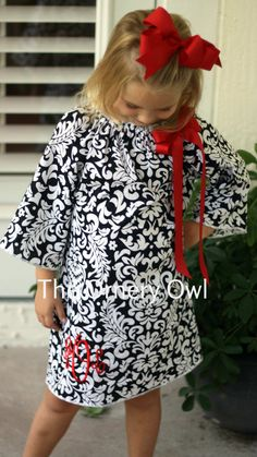 Monogram Dress Infant Christmas Dress Christmas by TheOrneryOwl, $38.00