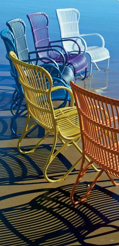 Colorful Chairs on the Beach.