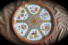 Large Daher Decorated Ware Retro Metal Tin Asian by QuinlanQ