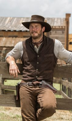 western home decor Chris Pratt and Denzel Washington Are the Action Duo You Never Knew You Needed in The Magnificent Seven Trailer Cowboy Outfits, Western Outfits, Cowboy Outfit For Men, Cowboy Costume For Men, Cowboy Costumes, Western Dresses, Denzel Washington, Cowboy Up, Cowboy Vest
