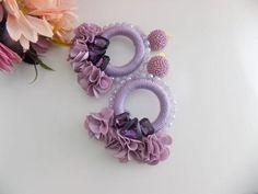 Diy Earrings, Earrings Handmade, Hoop Earrings, Angel Wing Earrings, Textiles, A Hook, Light Purple, Statement Jewelry, Gifts For Friends