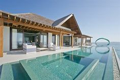 Ultra modern private pool, fronting the hotel room at Niyama #maldives #vacation #luxury