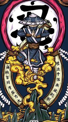 Graffiti Wallpaper Iphone, Anime Wallpaper Phone, Cool Anime Wallpapers, Naruto Wallpaper, Japanese Artwork, Japanese Tattoo Art, Japan Tattoo Design, Samurai Wallpaper, Samurai Artwork