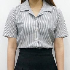 Striped Notched Collar Shirt