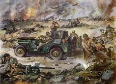 Willys Jeep on the Battle Front WWII -1943