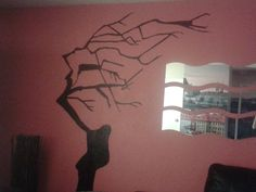 New work. drawing on the wall 1. M.Dirro