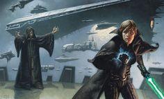 Reborn Emperor Palpatine and Luke Skywalker by Mark Zug