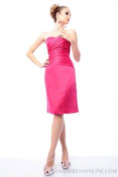 2014 Gorgeous Sweetheart Sheath / Column Satin Bridesmaid Dresses