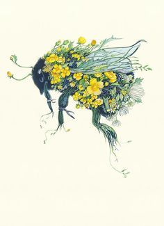 """Bumblebee - Card Scientist Antione Magnan proved that bumblebees are incapable of flight. In his 1934 book, 'Le Vol des Insectes', he says, """".prompted by what is done in avia Skull Tatto, Tatoo Art, Bug Tattoo, Insect Tattoo, Tattoo Ink, Art And Illustration, Bumble Bee Illustration, Animal Illustrations, Arte Sketchbook"""
