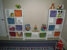 Playroom Idea - Storage and Shevles
