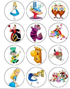 12 Edible ALICE IN WONDERLAND Cupcake toppers, Alice in Wonderland party, Alice in Wonderland birthday ABC Images http://www.amazon.com/dp/B00SYI05FK/ref=cm_sw_r_pi_dp_C-Utvb07H2YWD