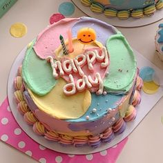 Pretty Birthday Cakes, Pretty Cakes, Simple Cake Designs, Pastel Cakes, Frog Cakes, Dream Cake, Cute Desserts, Just Cakes, Mini Cakes