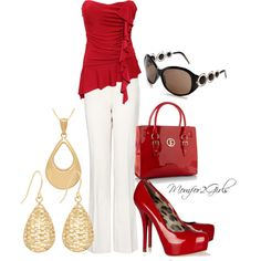 """""""Love Me Some Red"""" by momfor2girls on Polyvore"""