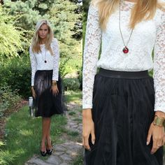 Get this look: http://lb.nu/look/2332039  More looks by Paula Jagodzinska: http://lb.nu/beautyfashionshoppin  Items in this look:  Skirt, Dress, Shoes, C&A Bracelet, Romwe Necklace