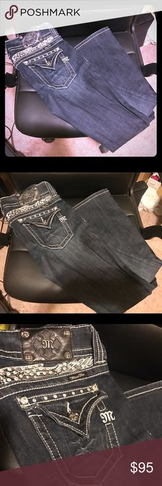 ✨Miss Me Jeans! NWOT. Dark Wash Jeans. Purchased from Buckle and sat in my closet. Never worn. Size 28. Miss Me Jeans