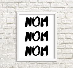 nom nom nom printable poster 8x10 print 8x10 inch by GrafikShop