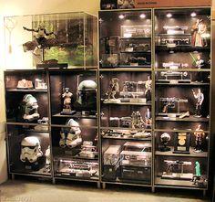 Lego Storage Diy Display Sons 41 Ideas For 2019 Star Wars Room, Star Wars Art, Decoracion Star Wars, Star Wars Zimmer, Lego Display, Display Cases, Glass Display Shelves, Display Ideas, Lego Storage