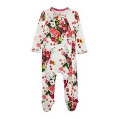 1f2eac006fb79 Baker by Ted Baker Babies off white floral sleepsuit