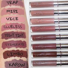 Colour pop swatches