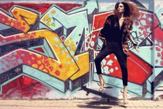 Editorial #Skateboard Fashion Aver Report   Skate Trick