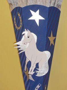BASTELSET Schultüte Zuckertüte Pferd von bastel-reni auf DaWanda.com