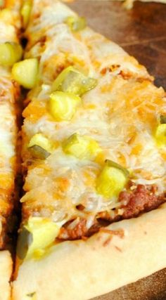 Sloppy Joes Pickle and Cheese Pizza