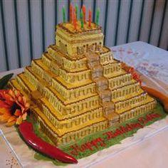 Mayan Pyramid Cake