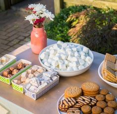 A Backyard S'mores Party: The Party Plan Great list of items to gave for a s'mores party.