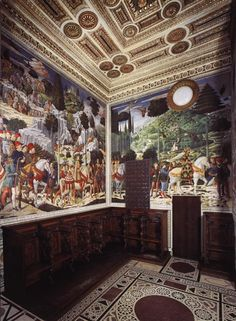 Palazzo Medici, frescoes by Benozzo Gozzoli - 1459-1461 in the Chapel of the Magi - Florence