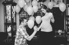 Do a gender reveal or announcement, posting the black and white images first! Painted hands, handprint on belly! Check out the blog to find out if this was pink or blue! Black N White Images, Black And White, Pregnancy Gender Reveal, Pink Blue, Announcement, How To Find Out, My Photos, Daddy, Check