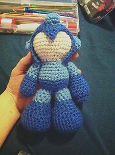Cute #MegaMan #crochet amigurumi pattern free on Ravelry! http://ow.ly/UR2qq