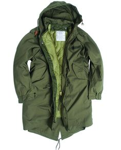 US Army M-51 'Fishtail' Parka with Liner and Hood. This is a replica based on the Korean War Era originals...