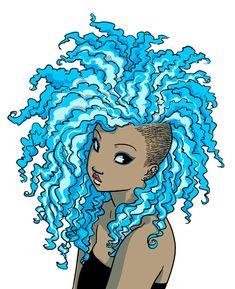 ♥ Nobody Asked Me ~ Kyisha ♥ Artwork by Sophie Campbell/Mooncalfe via Deviantart Black Girl Art, Black Women Art, Art Girl, Black Girls, Character Inspiration, Character Art, Design Inspiration, Color Splash, Afro Art