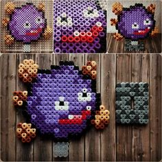 Pokemon Koffing Smogon Perler Hama Beads - Beadsmeetgeeks
