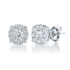 Cluster Diamond Earrings #helzbergdiamonds #crazypinlove