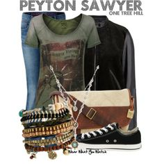Inspired by Hilarie Burton as Peyton Sawyer on One Tree Hill.