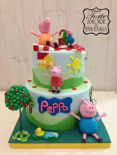 #Peppa #Pig #Pic #Nic Cake by www.torteamorefantasia.com