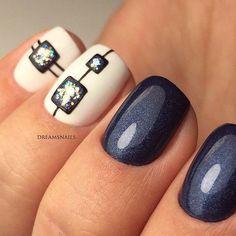 Beautiful Nail Designs To Finish Your Wardrobe – Your Beautiful Nails Simple Nail Art Designs, Beautiful Nail Designs, Cute Nail Designs, Hair And Nails, My Nails, Nailart, Geometric Nail, Fabulous Nails, Creative Nails