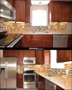 Classic Cherry! Make your home feel like a million dollar home🏡,  minus the price tag!💸  KitchenSearch is determined to give our customers an affordable dream kitchen, without taking away the quality, speed, and ease that even the most known companies simply do not offer!  If you would like a quote or have ANY questions about our cabinets, our speed, anything! Please call or email us today!  215-253-5800 or info@kitchensearch.com! 😃