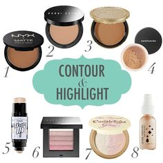 Contouring; no link but I like the items to use. gives an idea of what to buy! :D