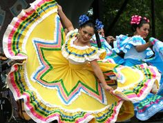 The Mexican women wear beautiful, long dresses that contain numerous amounts of vibrant colors with different patterns.  These dresses were mainly worn while attending cultural events, and they would have traditional dances.  Unlike the Mexican clothing, Muslim women have various styles of dress, normally depending on where they live.  The style changes from a Saudi Arabian dress to a West African dress, and they used this style of clothing in their everyday lives.